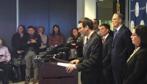 Washington state attorney general Bob Ferguson announces lawsuit to challenge President Donald Trump's immigration policy banning Muslims from entering the U.S.