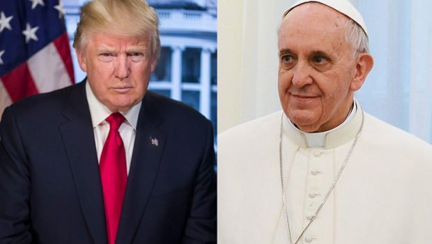 President Donald Trump and Pope Francis.