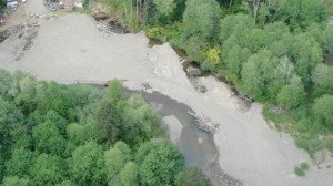 An aerial photo courtesy of the U.S. Environmental Protection Agency shows the section of the Tahuya River altered by William Cayo Sr. in February 2013.