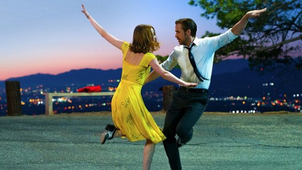 "Ryan Gosling and Emma Stone dance in the film ""La La Land."""