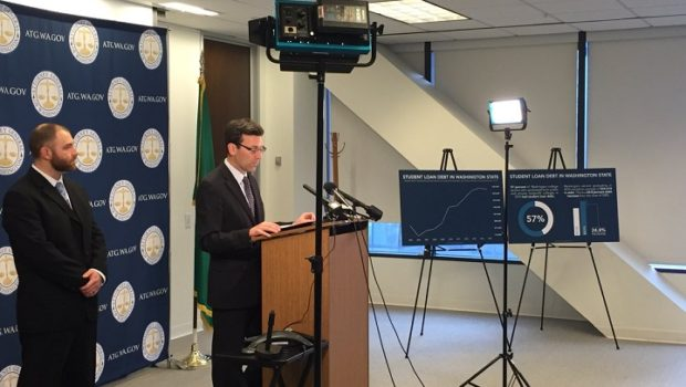 Attorney General Bob Ferguson announced that Waashington State is suing student loan servicer Navient.