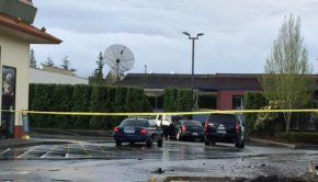 A man crashed into the Silverdale McDonald's on Tuesday.